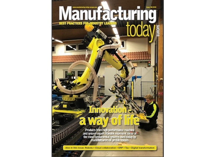 Randek on the frontpage of Manufacturing Today